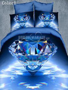 Housse de couette 3D de galaxie pas cher pour deux personnes [#ROBE2012782] - robedumariage.com