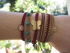 Β21,Β24,Β26,Β27,Β30-W2012 Bangles, Bracelets, Macrame, Winter, Jewelry, Fashion, Winter Time, Moda, Jewlery