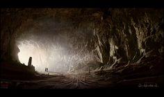 Mark Molnar - Sketchblog of Concept Art and Illustration Works: Project Dune - Entering the Fremen Caves
