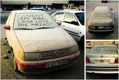 Guerilla marketing in Dubai: 'I just love the metro'