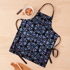 Apron Designs, Lavender Blue, Blue Pearl, Flower Patterns, Print Design, Turquoise, Pearls, Elegant, Floral