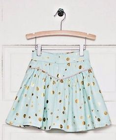 Matilda Jane Hello Lovely Gilded Greens Skirt Size 2 NWT mint golden dots #MatildaJane #DressyEveryday