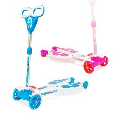 73.90$  Watch here - http://alider.worldwells.pw/go.php?t=32696252088 - 4 Wheel Scooter For Kids Boys Girls 2-12 Years Old Pink Blue With Flash Wheels  Height Adjustable 73.90$