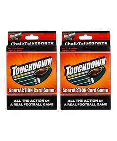 Another great find on #zulily! Touchdown Football Card Game - Set of Two by ChalkTalkSPORTS #zulilyfinds