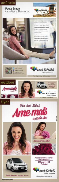 Campanha de Dia das Mães Shopping Park Europeu com Paula Braun