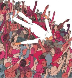 #crowdsurfing @wired. Illustration by Josh Chochran #wired #rockconcerts To purchase a print, visit condenaststore.com/?utm_content=buffera36d3&utm_medium=social&utm_source=pinterest.com&utm_campaign=buffer