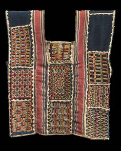 African, Wodaabe peoples, Niger, 20th century, 1950–75 Artist Unidentified, African Object Place Niger Dimensions Overall: 36 x 29 cm Medium or Technique Cotton fabric, yarn, dyed