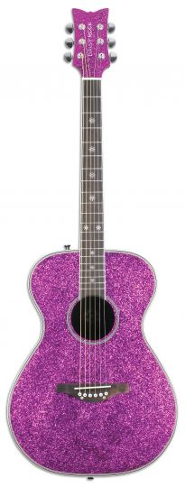 I don't play guitar, but if I did ....... pink sparkle daisy rock acoustic guitar :)