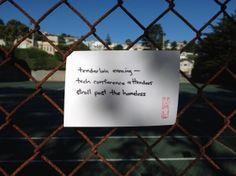 """#haiku 20120829 """"tenderloin evening -- / tech conference attendees / stroll past the homeless"""""""