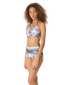 High-waisted bikinis we're obsessed with -  Clover Canyon Eye of the Tiger Bikini Bottoms, $82