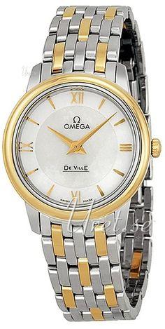 Omega De Ville Prestige Quartz 27.4mm Vit/18 karat gult guld Ø27, modell 424.20.27.60.05.001 hos Uret.se. Material & Utförande Modell:424.20.27.60.05.001 Serie:De Ville Prestige Qu