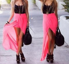 Fashion Two-piece Chiffon Dress