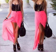 Fashion Two-piece Chiffon Dress