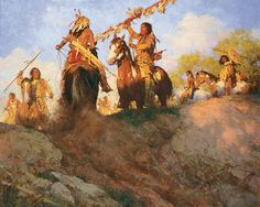 Sunset For The Comanche by Howard Terpning Giclee Canvas S/N COA New Mint      #Realism