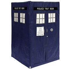 Tardis play tent - the inside is the 11th Doctor's control room.  Wonder if it is bigger on the inside. $89.99 at Think Geek  I need this to knit in. Like NEED it.