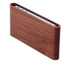 Wooden iPhone slip cover.