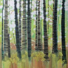 """Saatchi Art Artist Sandrine Pelissier; Painting, """"Woodland Rhythm"""" #art"""