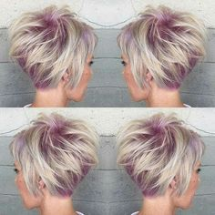 Blonde and light purple.....love this You can get more information about fantastic and trending haircuts at http://unique-hairstyle.com/bronde-hair-color-new-hit/