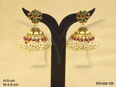 Flower Jhumki Antique Earrings