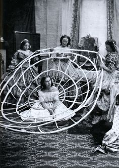 Crinolines 1850-1860. Photographer Unknown.