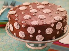 Polka Dot Cake ~ Make a chocolate cake and decorate with nonpareils of various sizes for a quick and easy special dessert!