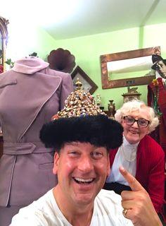 June Hudson & MBH larking around at XMAS 2017 REBOS hat