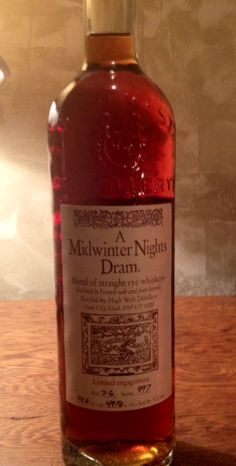 Spectacular reviews. Limited Release. An unopened bottle of A Midwinter Nights Dram straight rye whiskey by High West #whiskey http://www.bottle-spot.com/posts/101665/jersey-shore-whisky-for-sale--high-west---a-midwinter-s-night-dram-----rye