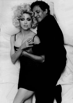 iconic 80's fashion designer azzedine alaïa, with iconic 80's entertainer madonna by iconic 80's photographer, steven meisel