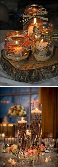25 Must See Drop-dead Rustic Wedding Ideas purplewedding kickinit gifts weddings girl Rustic Wedding Centerpieces, Flower Centerpieces, Rustic Weddings, Camo Wedding Decorations, Outdoor Weddings, House Decorations, Wedding Rustic, Centerpiece Ideas, Wedding Themes