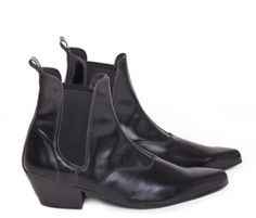 Beatle boots: Style of boot that has been made popular in the 1960s by the Beatles. Beatle boots are tight-fitting ankle boots with a Cuban heel and either with side zippers or elastic side, similar to the Chelsea boot. Beside the cowboy boot it is the only contemporary men's footwear with high heel.