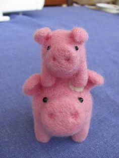 Mama and baby pig by HandmadeByNovember on Etsy, $28.00