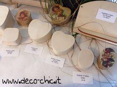 Scatole in balsa a cuore e ovale disponibili su www.deco-chic.it