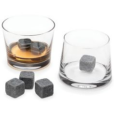 soapstones that you freeze and then put in whiskey! that way, melting water doesn't dilute your booze. everybody wins!!