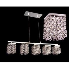 Classic Lighting Bedazzle 5 Light Crystal chandelier Crystal Type: Swarovski Elements Squares