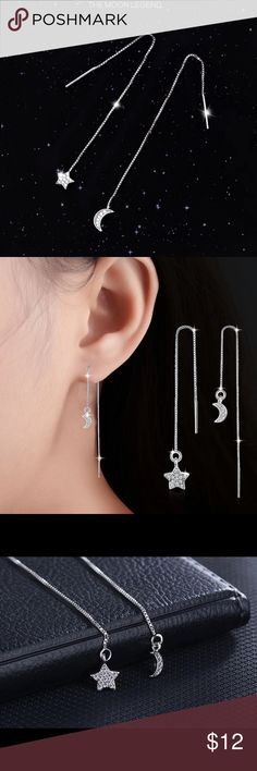 A New Alloy moon and Stars Earrings A New Alloy Moon and Stars Earrings Jewelry Earrings