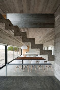 Concrete holiday home by Luciano Kruk near the seaside resort of Pinamar