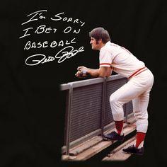 Pete Rose T-Shirt Baseball Posters, Baseball Shirts, Sports Shirts, Baseball Teams, Baseball Cards, Pete Rose, Rose T Shirt, Cincinnati Reds, Something To Do