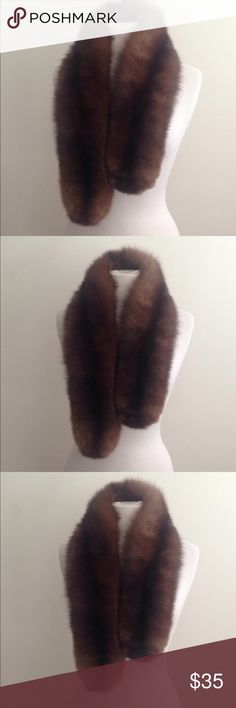 Mink collar fur piece Soft and clean. Velvet backing. 40 inches. Accessories Scarves & Wraps
