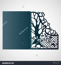 Openwork Card With Tree And Hearts. Laser Cutting Template For Greeting Cards, Envelopes, Wedding Invitations. Stock Vector Illustration 438526186 : Shutterstock