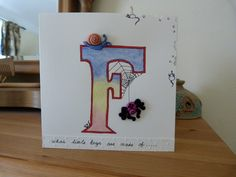 What Little Boys are Made Of Boys Birthday Card £2.00 by Cariad Crafts