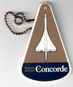 BRITISH AIRWAYS CONCORDE HARD PLASTIC LUGGAGE BAG TAG CROWN LOGO BA VINTAGE