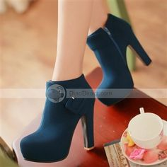 41f45bff4c8 Yoo grid New in autumn and winter boots belt buckle naked Korean rough  Martin with waterproof boots