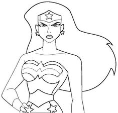 Superhero Woman Coloring Pages