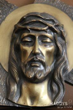 Jezus portret brons