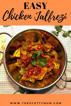This easy to make chicken jalfrezi is free from the top 14 allergens. Mango Chutney Chicken, Chicken Jalfrezi Recipe, How To Boil Rice, Egg Free Recipes, Indian Food Recipes, Ethnic Recipes, Top 14, Easy Chicken Recipes, Food Allergies