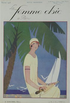 La Femme Chic à Paris - Février 1925 Original Magazine Cover Print – Rue Marcellin Original Vintage French Posters & Prints