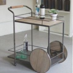 Best Of Wood Metal Bar Cart