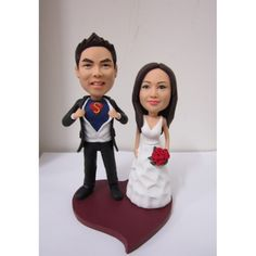 Unique Wedding Cake Toppers | Custom Wedding Cake Toppers - Superman Couple CWCT0011
