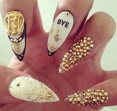 Image via We Heart It #art #bye #cyber #dope #fabulous #fashion #ghetto #girl #glam #glamorous #gold #indie #luxurious #luxury #nailart #nails #rich #style #ratchet #bixch #neginem
