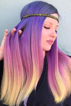 Unique hair color ideas that you want to try Informations About Einzigartige Haarfarbe Ideen, die Si Hair Dye Colors, Cool Hair Color, Unique Hair Color, Sunset Hair, Pastel Sunset, Purple Sunset, Desert Sunset, Sunset Colors, Hair Color Pictures